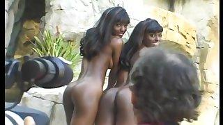 Black babes look check out a crow boner check out an alfresco shoot