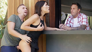 Neighbor fucked babe anal by means of offer