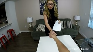 Amazing honcho whorable nympho Kat Dior is made to ride fat boner bushwa