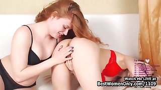 Blonde And Redhead Lesbians Teens Love Measure Cam