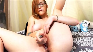 Unassisted redhead slut toys and fingers say no to holes