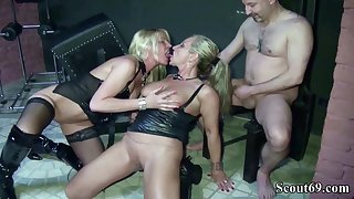 Two German Dominas In Femdom Have Sexual connection With Her Slave In Dom - (PORN MOVIES)