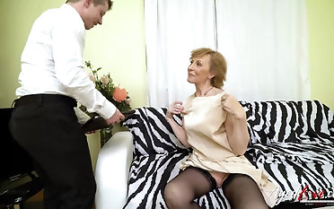 Hardcore grandma leman hardcore with handy horny youngster