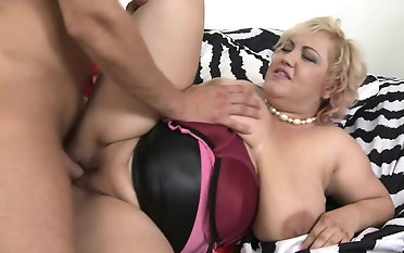 Obese breasted BBW fucking added to sucking