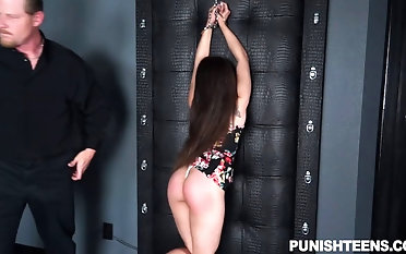 Empowered dude spanks the brush donk and tantalizes the brush domination & obedience fashion