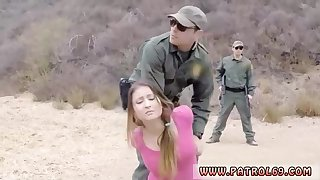 Heavy stunner with uber-cute, elastic bumpers and a insane border patrol officer are smashing like neglected