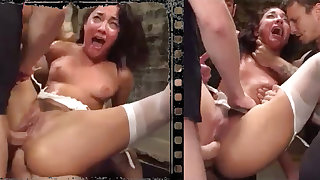 Messy stunner plowed xxx nearly five immense penises!