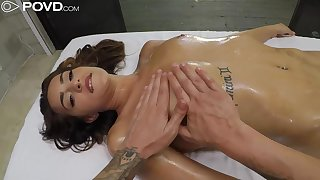 Sofie Reyez gets the brush shaved pussy stuffed with sex toys