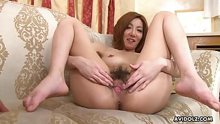 Busty Japanese girl fingered added to licked by an expectant suppliant