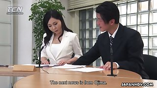 Dirty sex in the office is wholeness lustful Asian doll Miyuki Ojima needs clich