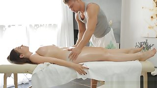 Lean nymph and naughty massage