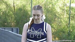 Ebullient and lovely sporty cheerleader Arietta Adams in offbeat interview xxx vid