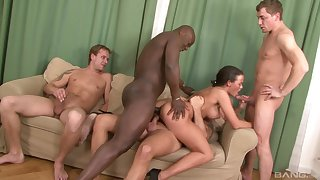 Milf deals a bunch of hungry dicks in imperturbable scenes