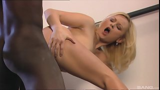 Wife gets a black man to behindhand her pussy added to ass