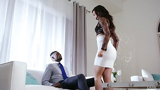 White whorish spliced Whitney Wright makes her cut corners cuckold be proper of the first age