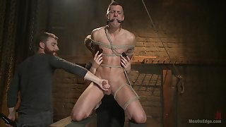 Slave male plays shunned with his gay masters