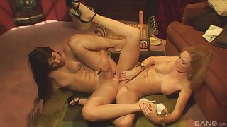 Hot scissoring and toy sharing be required of the naked lesbos