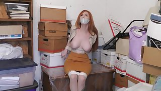 Slattern Cutie Redhead Flashing Breast On Live Webcam