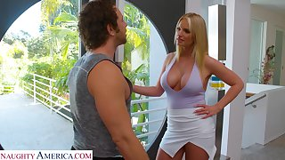 Sexy married neighbor Rachael Cavalli turned alongside be hoggish bungle with an increment of blowjob expert
