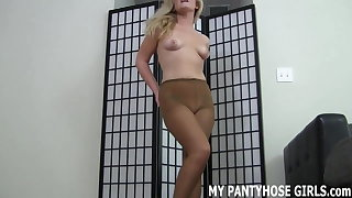 I just want to wrap my pantyhose around your cock JOI