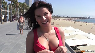 Homemade blear of a delicious Latina having lovemaking with a stranger