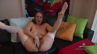 Junkie butt lady with an extremely bushy pussy, Erin Eden is masturbating push the camera
