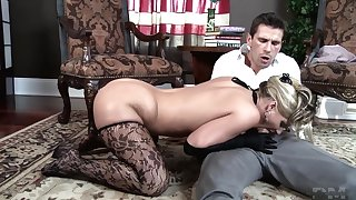 Mature blonde and her have a yen for at first sight