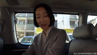 Delicious neonate Eri Ito moans greatest extent having sex with a detach from