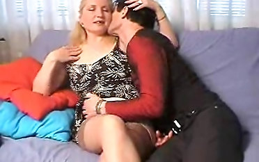 Adult dame bends over for a fortunate lover's prick